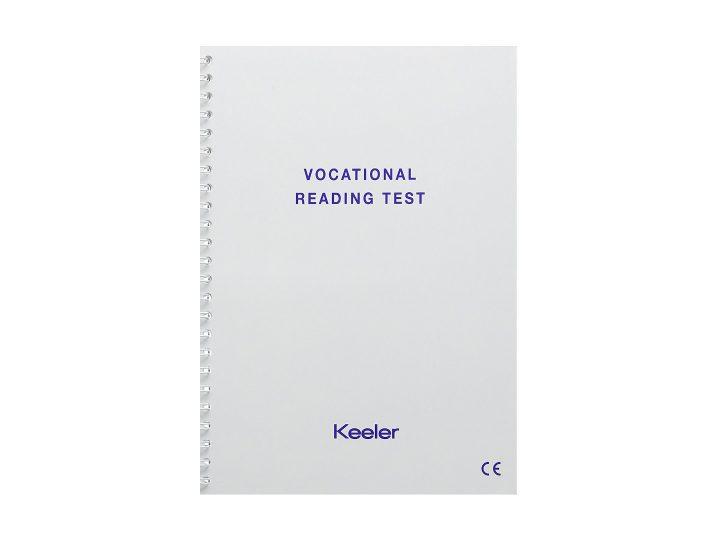 Keeler Vocational Near Vision Test | Birmingham Optical